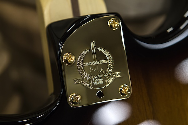 60th Anniversary Strat Neck Plate