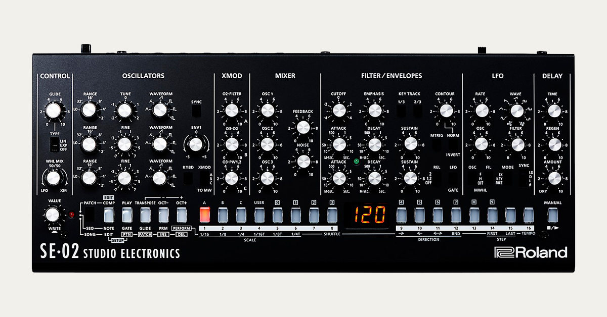 Roland's SE-02 Monophonic Analog Synthesizer