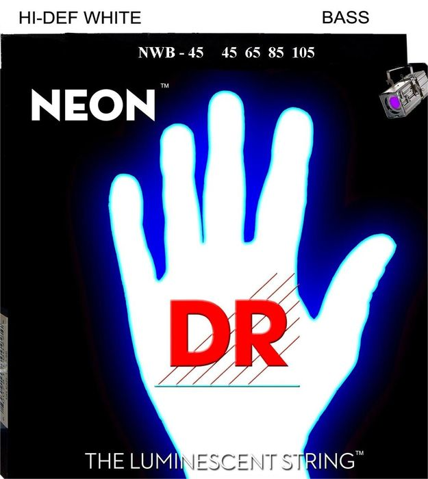DR NEON coated bass strings