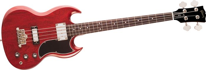 gibson sg reissue 2013 bass guitar red