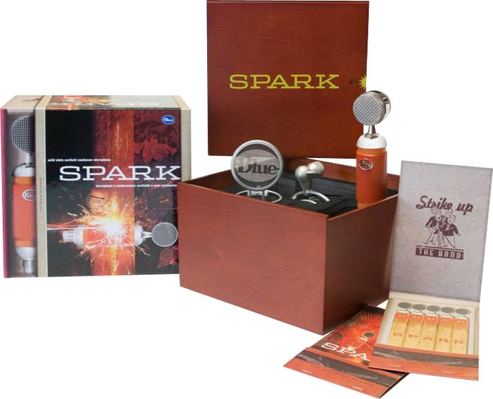 Blue Spark Mic Package and Accessories