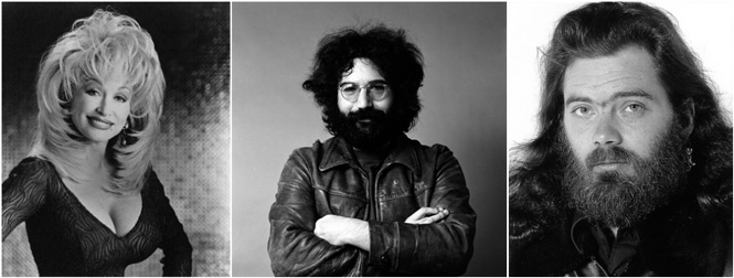 Dolly Parton Jerry Garcia Roky Erickson