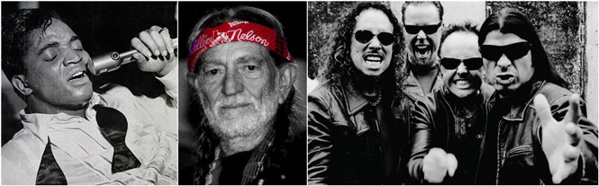 Jackie Wilson Willie Nelson Metallica