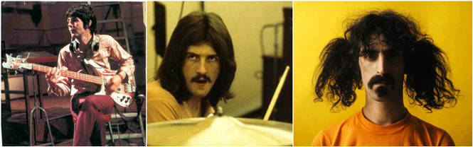 Paul McCartney John Bonham Frank Zappa