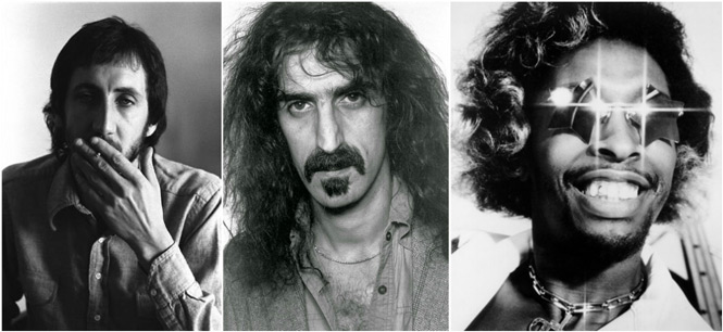 Pete Townshend Frank Zappa Bootsy Collins
