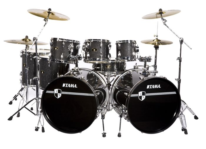 tama double bass drum set