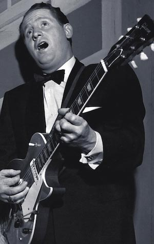 Les Paul Black & White Photo