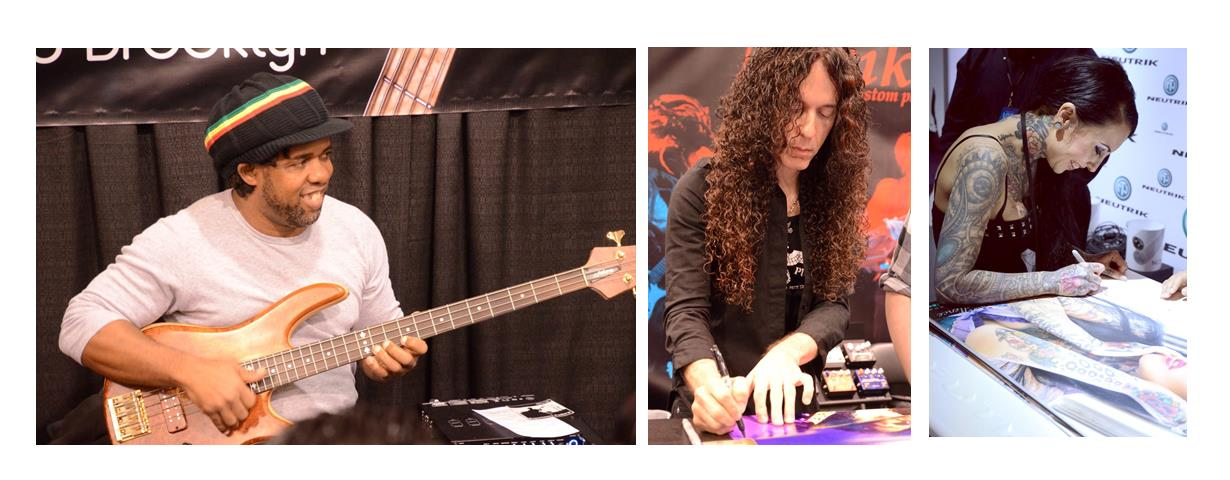 Victor Wooten, Marty Friedman, and Makani Terror