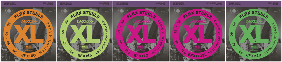 Assorted FlexSteel Bass String Packs