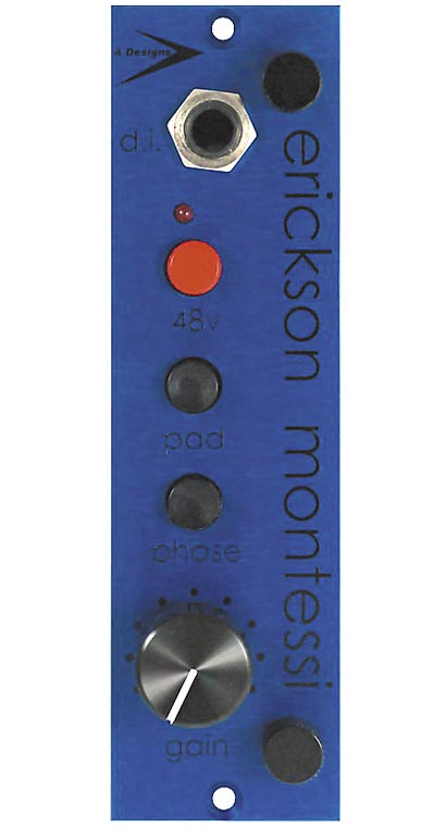 A Designs 500 Series Blue Mic Preamp