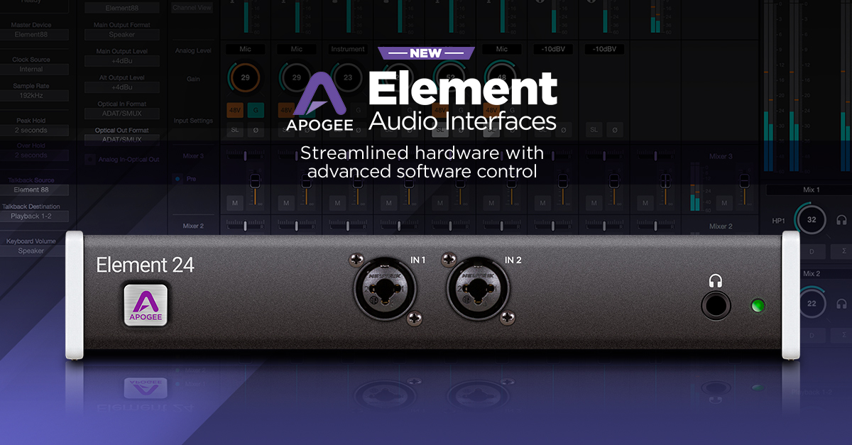 Apogee Element Thunderbolt Audio Interface