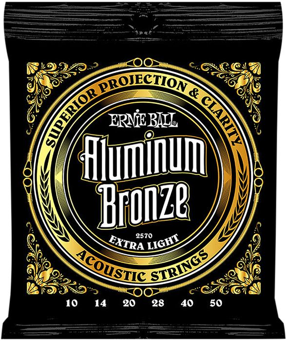 Ernie Ball Aluminum Bronze Light Acoustic Guitar Strings