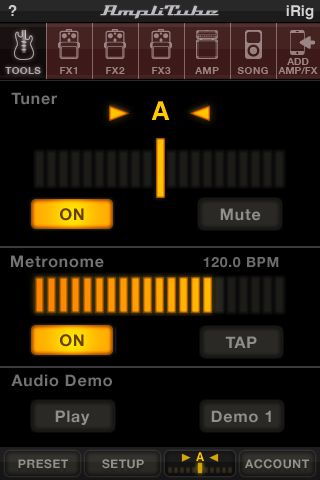 AmpliTube Buffer Settings