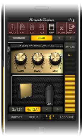 User Interface AmpliTube