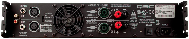 QSC GX7a Power Amp Rear Inputs