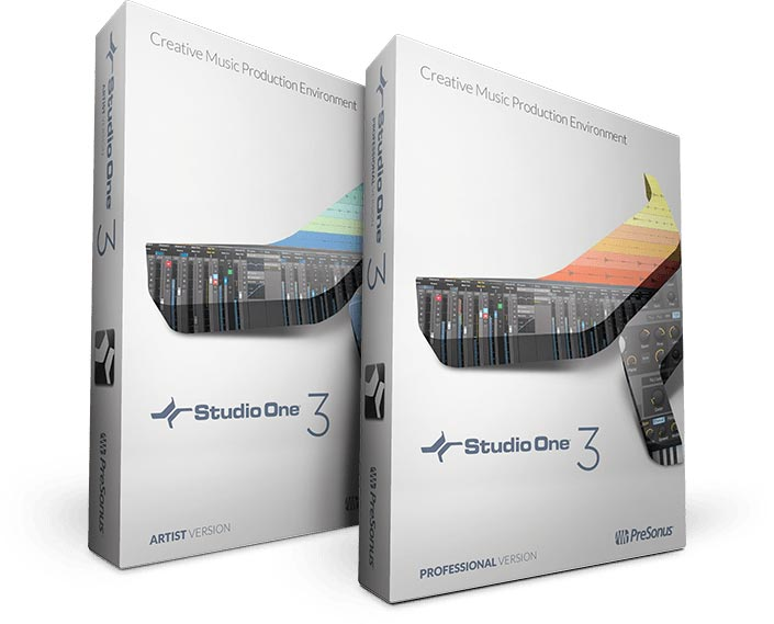 PreSonus Studio One 3 Versions