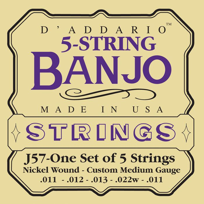 D'Addario J57 Banjo Strings