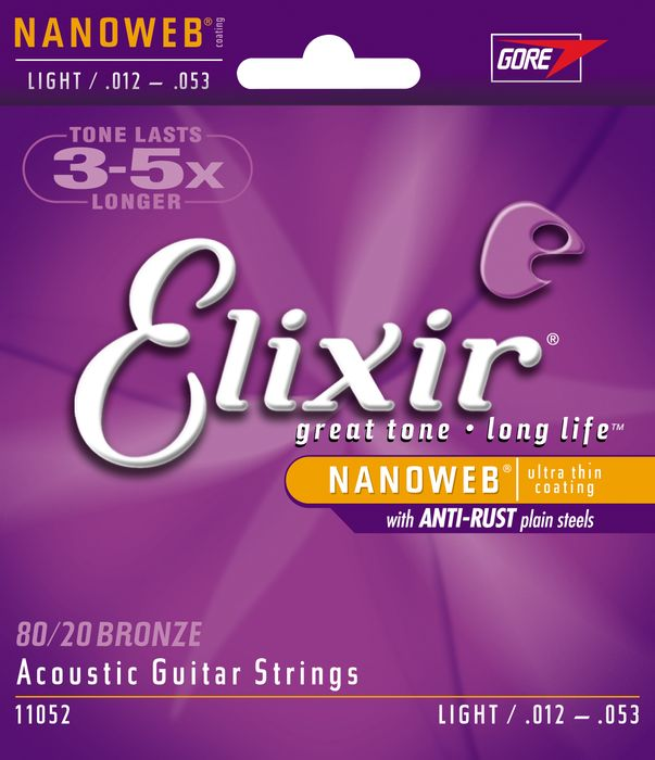 Light Elixir Nanoweb Acoustic Guitar Strings