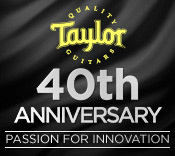 Taylor Guitars 40th Anniversary October Musician's Friend Catalog
