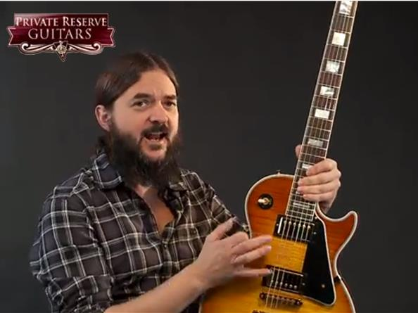 Video: Gibson Les Paul Custom Electric Guitar