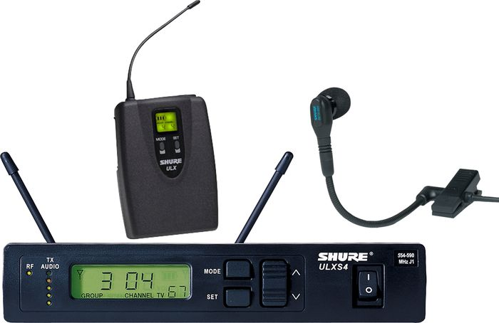 Shure ULXS 14/98 Clip-On Wireless Instrument System