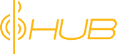 The HUB by Musician's Friend Logo